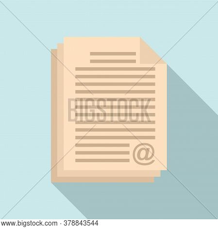 Online Loan Document Stack Icon. Flat Illustration Of Online Loan Document Stack Vector Icon For Web