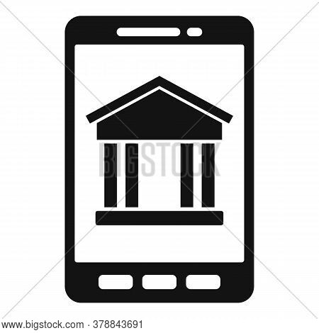 Smartphone Bank Online Loan Icon. Simple Illustration Of Smartphone Bank Online Loan Vector Icon For