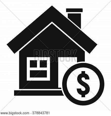 House Buy Online Loan Icon. Simple Illustration Of House Buy Online Loan Vector Icon For Web Design