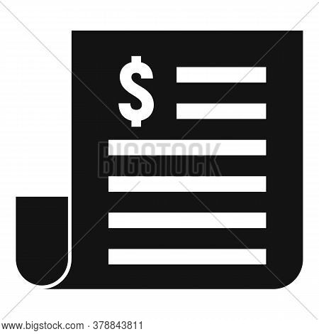 Paper Money Loan Icon. Simple Illustration Of Paper Money Loan Vector Icon For Web Design Isolated O