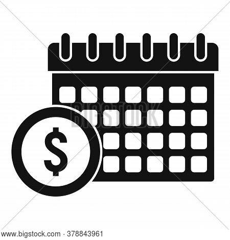 Online Loan Calendar Date Icon. Simple Illustration Of Online Loan Calendar Date Vector Icon For Web