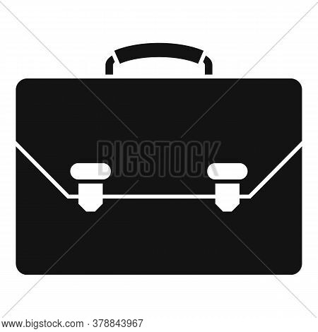 Leather Office Suitcase Icon. Simple Illustration Of Leather Office Suitcase Vector Icon For Web Des