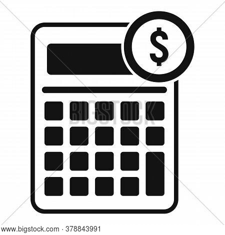 Online Loan Calculator Icon. Simple Illustration Of Online Loan Calculator Vector Icon For Web Desig