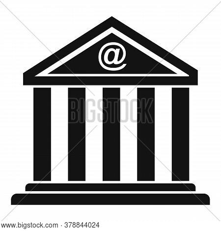 Loan Bank Building Icon. Simple Illustration Of Loan Bank Building Vector Icon For Web Design Isolat