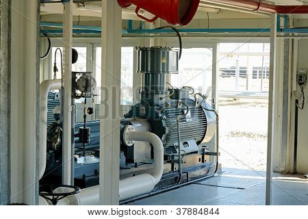 Pumping oil.