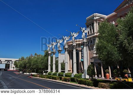 Las Vegas / United States - 05 Jul 2017: The Monumemt In Las Vegas, United States