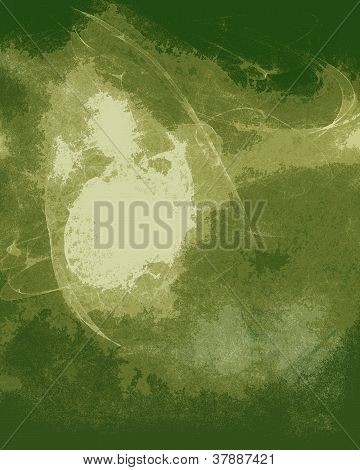 Abstract background with green and textured features