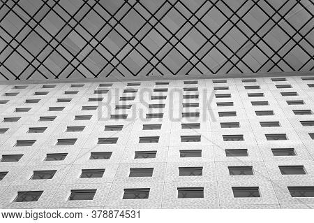Combine Textures. Abstract Background. Public Housing. Urban Architecture Concept. Multistory House