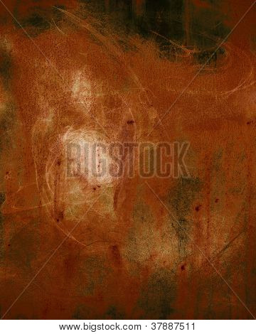 Textured Abstract Background in Orange