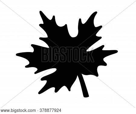 Maple Leaf - Black Silhouette - Stock Illustration For Pictogram Or Logo. Maple Leaf Silhouette - Si