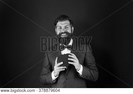 Heart Symbol Aesthetics. Valentines Day Holiday. Love And Relations. Wedding Day. Bearded Man Groom