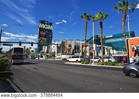Las Vegas / United States - 06 Jul 2017: Strip In Las Vegas, United States