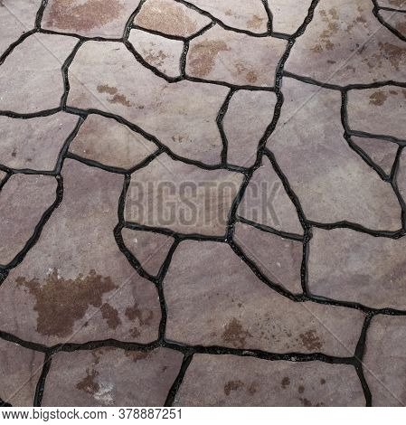 Modern Flagstone Mosaic Tiles Slabs With Random Chaotic Texture For Stone Wall , Patio Floor Or Terr