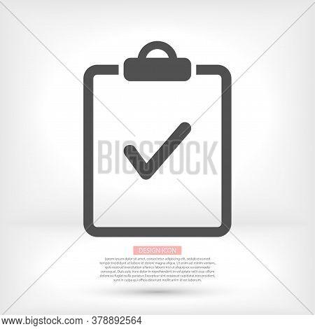 Document .tick Vector Document. Icon Document. Lorem Ipsum Flat Design Jpg Document