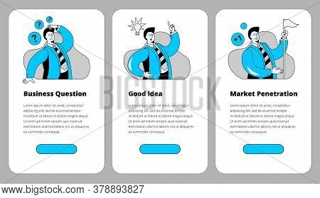 A Set Of Mobile Phone Templates On Business Issues, Searching For Ideas And Conquering New Markets.