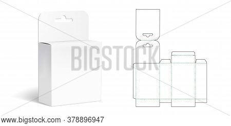 Hanging Box Die Cut Template With 3d Preview