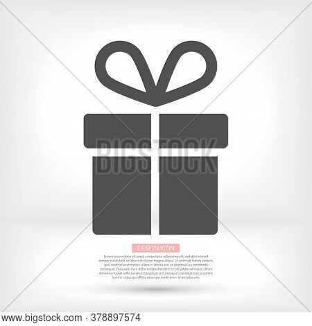 Gift Icon . Vector Gift . Illustration Gift . 10 Eps Gift . Simple Image Gift