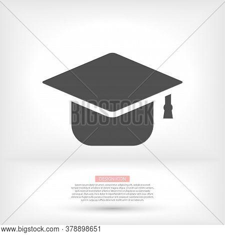 Graduation Hat Icon . Vector Graduation Hat . Illustration Graduation Hat . 10 Eps Graduation Hat .
