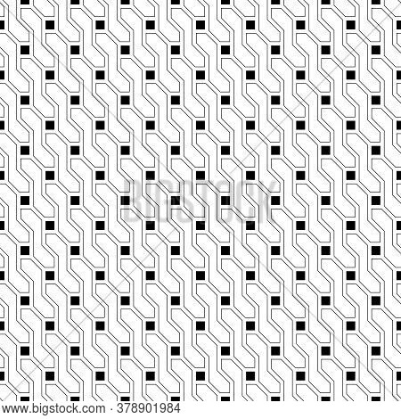 Seamless Pattern. Stylish Geometric Texture. Modern Linear Ornament. Regularly Repeating Thin Line G