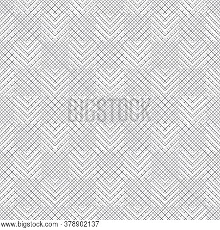 Vector Seamless Pattern. Abstract Textured Background. Modern Stylish Monochrome Texture. Regularly
