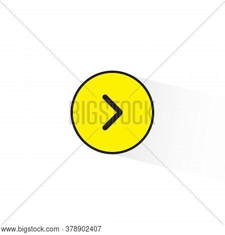 Turn Right Arrow Sign Vector In Trendy Flat Style. Next, Redo Symbol Illustration