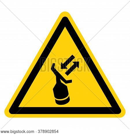 Warning Search And Rescue Transponder Symbol Sign, Vector Illustration, Isolate On White Background