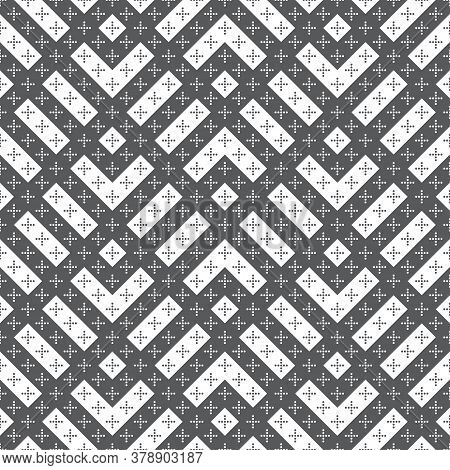 Vector Seamless Pattern. Simple Elegant Texture. Regularly Repeatition Geometrical Tiles With Zigzag