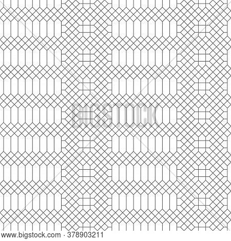 Vector Seamless Pattern. Modern Stylish Texture With Intersecting Thin Lines Which Form Regularly Re