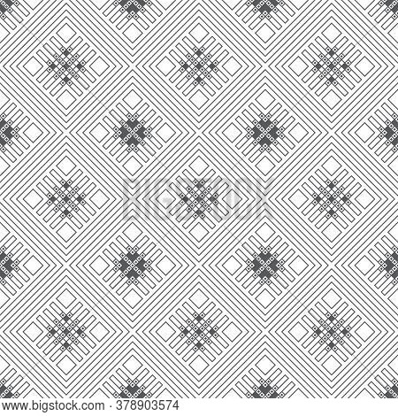 Vector Seamless Pattern. Infinitely Repeating Stylish Elegant Texture Consisting Of Thin Lines Which