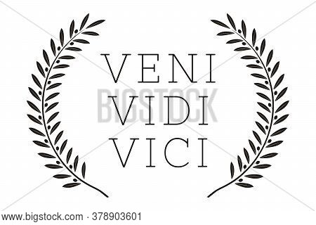 Veni Vidi Vici. Latin Quote Poster. Translation: I Came, I Saw, I Conquered