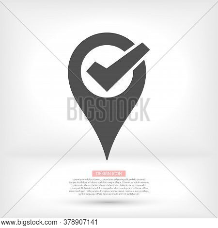 Check Vector Icon , Design Check Illustration For Web. Flat Style Check