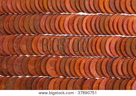 Euro coins (5 cent) as interesting background studio sho poster