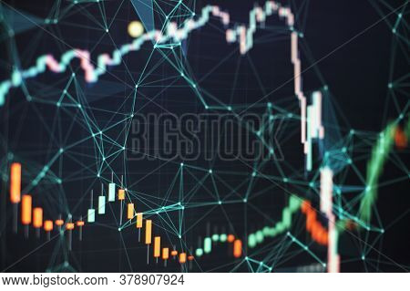 Data Analyzing From Charts And Graph To Find Out The Result. Business Graph Background