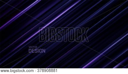 Black And Violet Sliced Surface. Abstract Geometric Background. Vector Illustration. Random Layers P