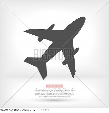 Airplane Icon. Airplane Vector, Sign And Symbol For Design, Presentation, Website Or Apps Elements.