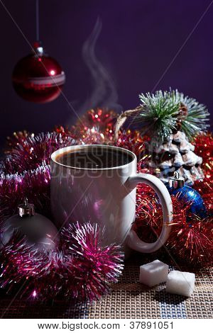 winter still life with coffee