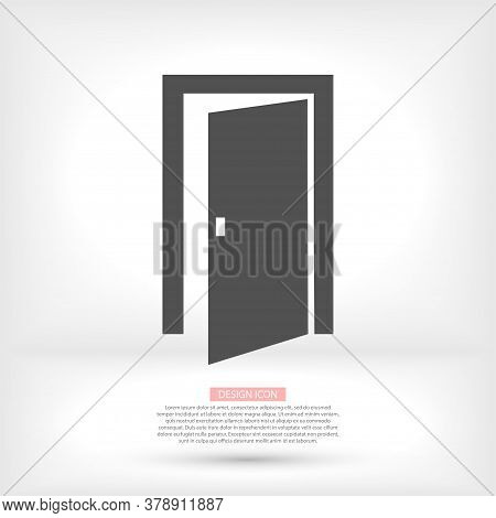 Open Double Door Outline Vector Icon. Linear Style Sign For Mobile Concept And Web Design Vector Ico