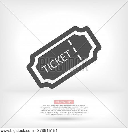 Tickets Vector Icon. Cinema Tickets Symbol. Linear Style Sign For Mobile Concept And Web Design Vect