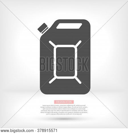 Oil Canister Icon, Gasoline Icons Vector. Simple Illustration Of Icon Vector Icons Of Oil Canister O
