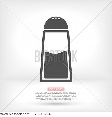 Line Icon Isolated On A Clean Background. Salt Powder Concept Drawing Salt Shaker Line Icon In Moder