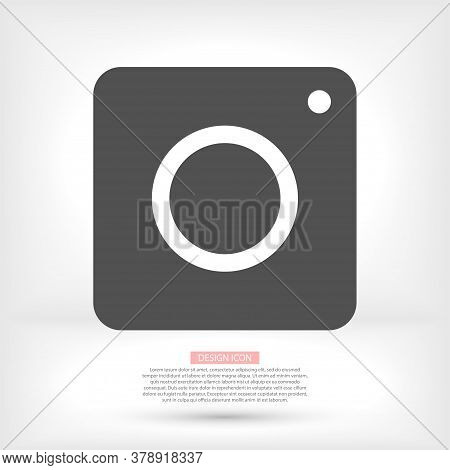 Camera Vector Icon In Trendy Flat Style Isolated On Grey Background Vector Icon. Camera Symbol For Y
