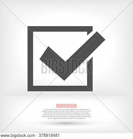 Check Mark Logo Vector Or Icon. Tick Symbol In Green Color Illustration Vector Or Icon. Accept Okay