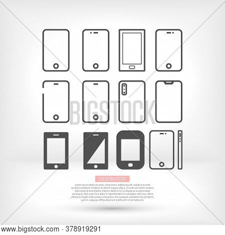 Phone Vector Many Linear Work Icon Design