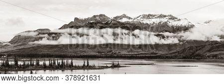 Beautiful scene in Jasper National Park in Canada