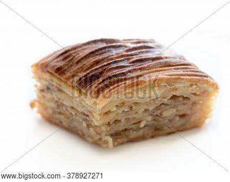Baklava Eastern Sweet Cake On White Background