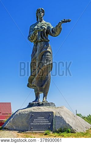 Bohuslav, Ukraine - May 08, 2014: Maria Bohuslavka Was Legendary Heroine Ukrainian Epic Ballads And