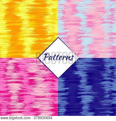 Simless Pattern. Random Lines Element. Random Horizontal Lines. Irregular Straight Lines, Parallel S