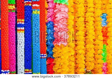 The Colorful Plastic Garlands