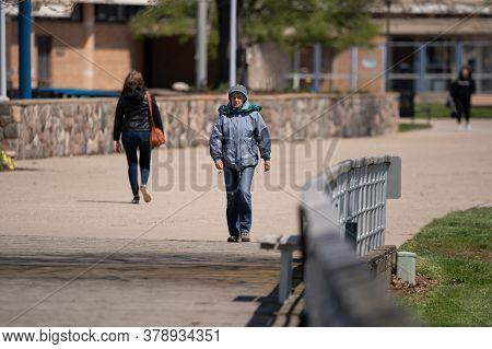 Harrison Township, Michigan / Usa - May 10\n-2020: Michigan Metro Park Activity   During The Corona