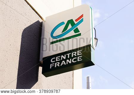 Bordeaux , Aquitaine / France - 07 25 2020 : Ca Sign Text And Logo Of Credit Agricole French Bank Ag